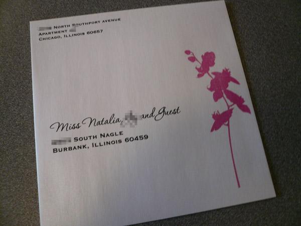 designed wedding invitation envelope starglow studios