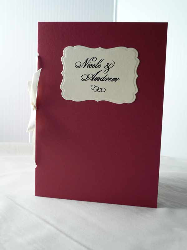 Pomegranate And Pearl Wedding Program