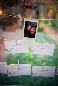 Yellow and Gray Escort Cards