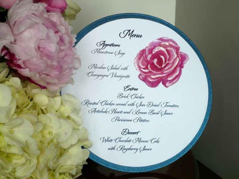 Pink Rose Circle Menu