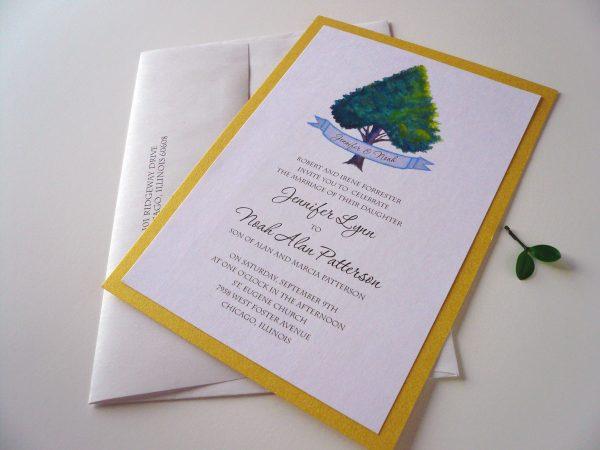 heart tree invitation