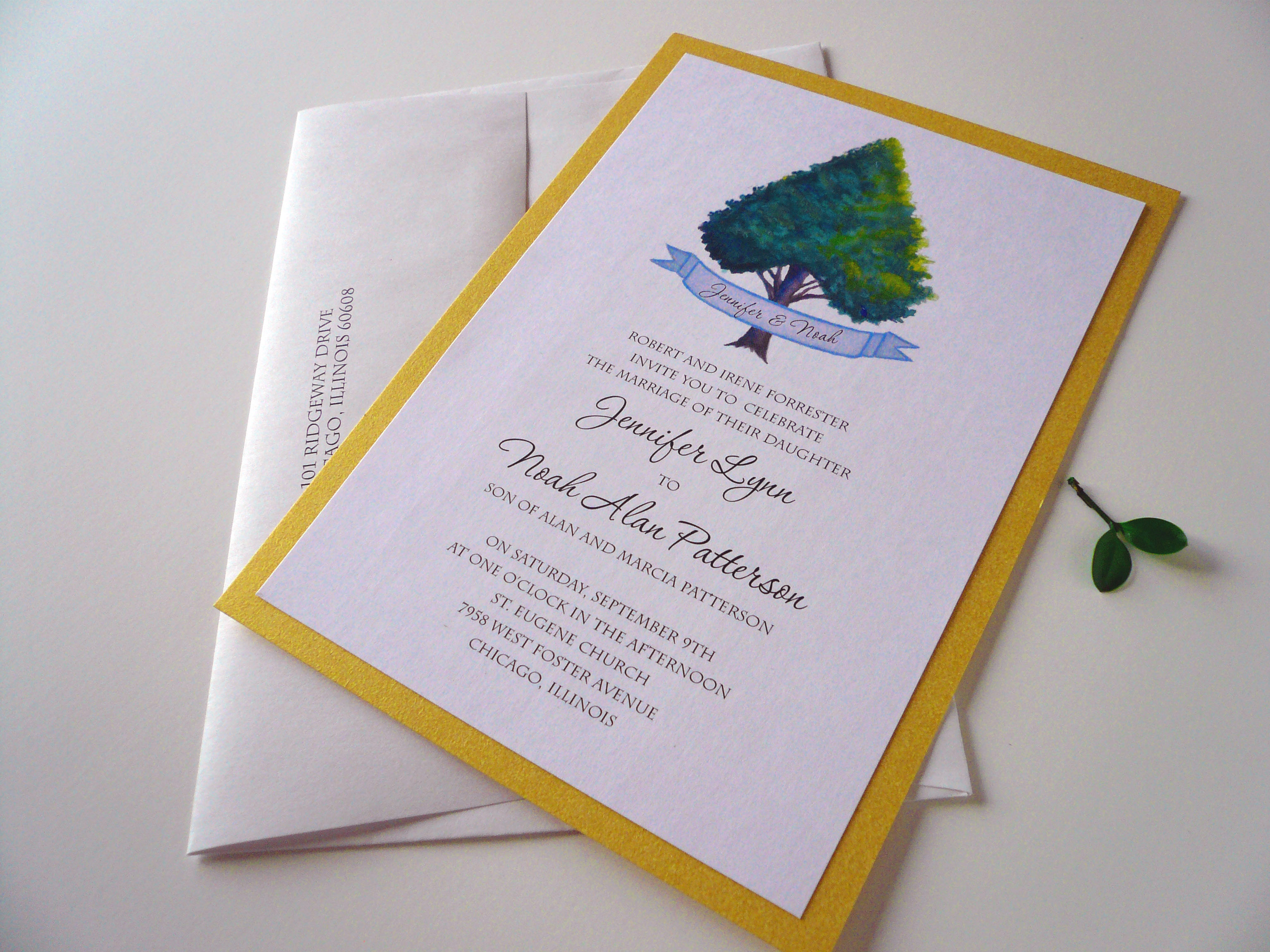 heart tree invitation