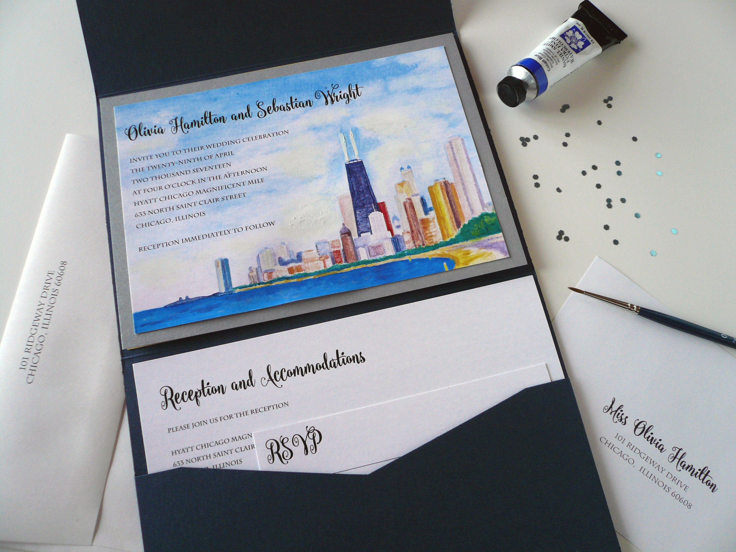 Chicago's Wedding Invitation