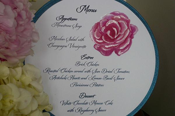 pink rose menu