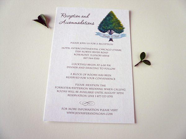 Heart Tree Reception Card