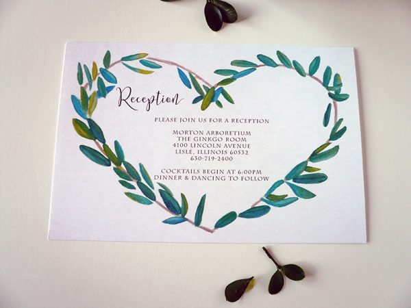 Laurel Wreath Reception Card