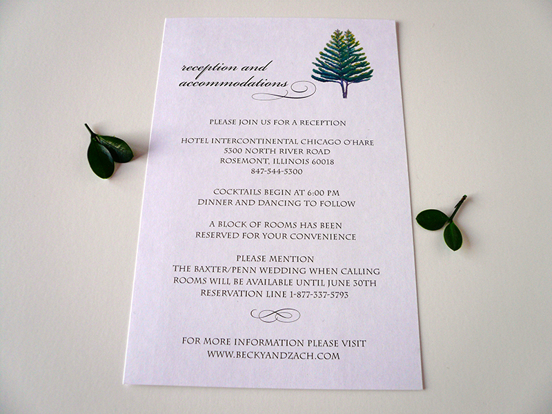 The Two Reception Card